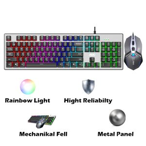 موس و کیبورد گیمینگ RGB باسیم AOC مدل KM410